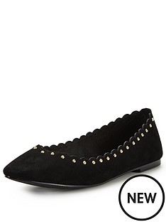 oasis-scallop-edge-flat-ballerina-shoes