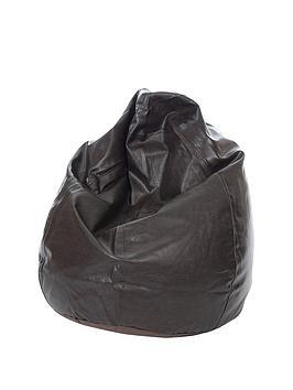 Kaikoo 6 Cu Ft Faux Leather Teardrop Bean Bag