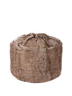 kaikoo-plain-faux-fur-beanbag