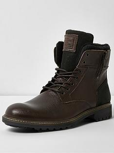 river-island-mens-leather-military-boot