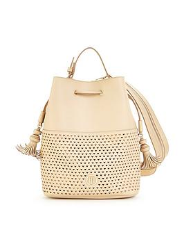 Tommy Hilfiger Tommy Hilfiger Leather Cut Out Bucket Bag