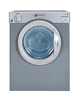 White Knight C39As 3.5Kg Compact Vented Freestanding Tumble Dryer  Silver