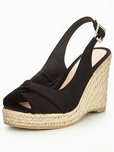 v-by-very-dandelion-knotted-front-wedge-black