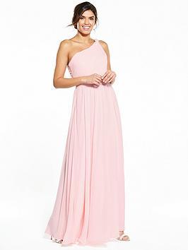 V By Very One Shoulder Bridesmaid Dress  Blush