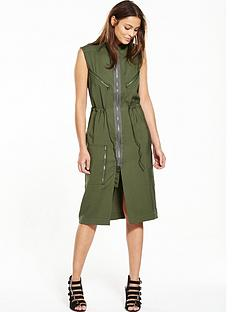 g-star-raw-powel-crusader-zip-shirt-dress-khaki