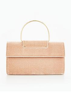 miss-selfridge-ring-foldover-clutch-bag