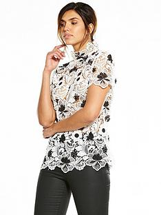 v-by-very-mono-lace-top