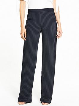 V By Very Pinstripe Wide Leg Trouser