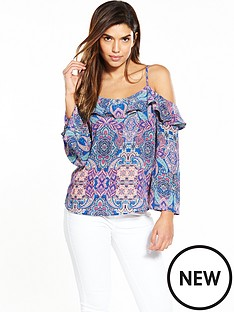 v-by-very-frill-cold-shoulder-blouse