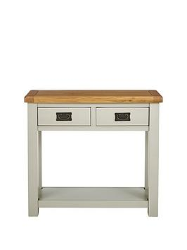 Luxe Collection Luxe Collection - Oakland Painted 100% Solid Wood Console  ... Picture