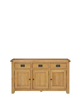 Luxe Collection  Oakland Ready Assembled 100 Solid Wood Large Sideboard