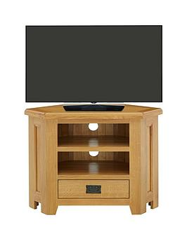 Luxe Collection  Oakland 100 Solid Wood Corner Tv Unit  Fits Up To 40 Inch Tv