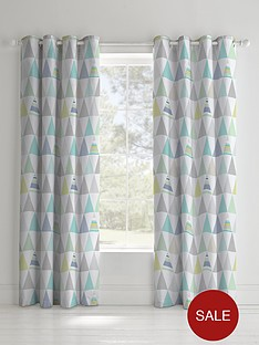 catherine-lansfield-geo-triangles-eyelet-curtains