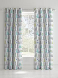 catherine-lansfield-geo-triangles-lined-eyelet-curtains
