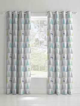 catherine-lansfield-geo-triangles-lined-eyelet-curtainsnbsp
