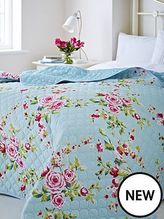 catherine-lansfield-canterbury-bedspread-throw-in-duck-egg
