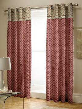 Catherine Lansfield Catherine Lansfield Kashmir Lined Eyelet Curtains Picture