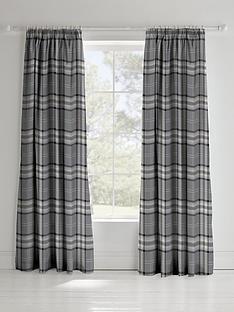 catherine-lansfield-kelso-check-pleated-curtains-in-charcoal