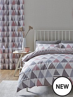 catherine-lansfield-geo-triangles-duvet-cover-set