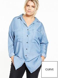 v-by-very-curve-turn-back-utility-shirt-blue