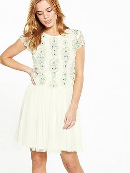 V By Very Petite Petite Embellished Tulle Dress
