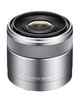 sony-sel30m35-e-mount-aps-c-30mm-f35-macro-prime-lens-silver