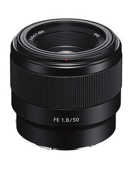 Sony Sony Sel50F18F E Mount - 50 Mm F1.8 Full Frame Prime Lens - Black Picture