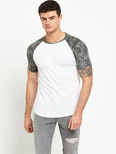 river-island-camo-sleeve-raglan-tshirt