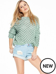 noisy-may-jay-heavy-knit-jumper-blue-surf