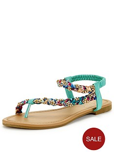 joe-browns-diamante-satin-sandals-green-multi