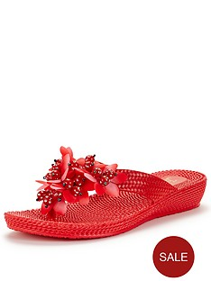 joe-browns-beaded-poolnbspsandals-red