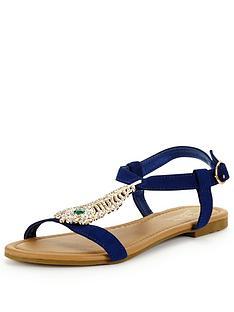 joe-browns-feather-sandals-blue-multi