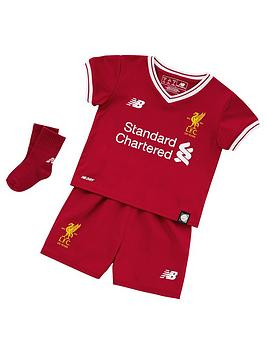 New Balance Liverpool Fc Baby 1718 Home Kit Set  Shirt Shorts And Socks
