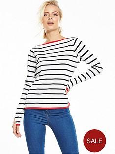 yas-luna-stripe-knit-top