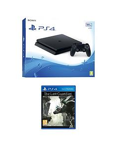 playstation-4-slim-500gb-black-console-with-the-last-guardian-plus-optional-extra-controller-andor-12-months-playstation-networkrsquo