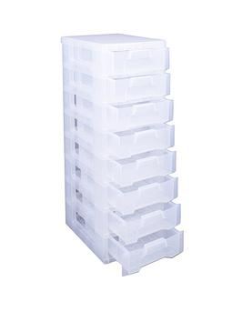really-useful-box-really-useful-tower-8-x-7l-clear-drawers