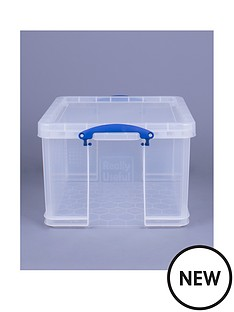 really-useful-box-42lnbspclear-plastic-storage-box-with-lid