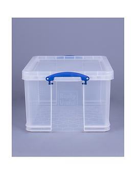 Really Useful Box 42L Clear Plastic Storage Box With Lid