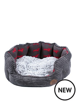 petface-deli-bed-grey-bamboo-amp-jumbo-cord-23-inch