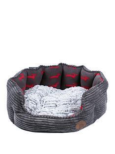 petface-deli-bed-grey-bamboo-amp-jumbo-cord-26-inch