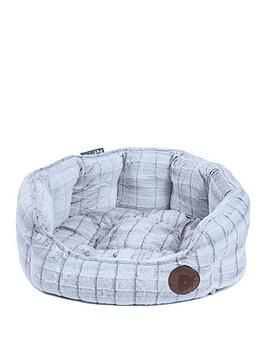 petface-white-plush-oval-bed-19-inch