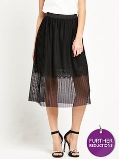 river-island-pleated-tulle-midi-skirt-with-lace-hem-black