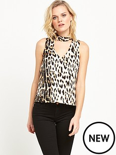 river-island-sleeveless-choker-top-leopard-print