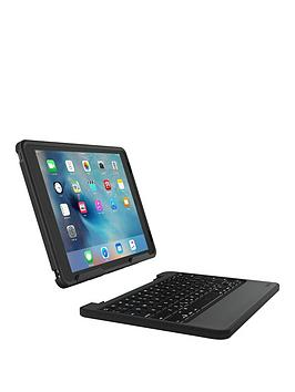 Zagg Zagg Rugged Book Case With Backlit Wireless Bluetooth Keyboard (9.7Inch) For Apple Ipad Pro  Black