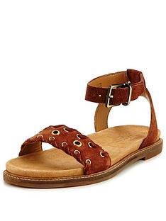 clarks-clarks-corsio-amelia-suede-rivet-flat-sandal