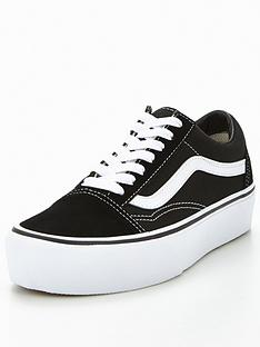 e8c32ab69666df Vans Old Skool Platform - Black White
