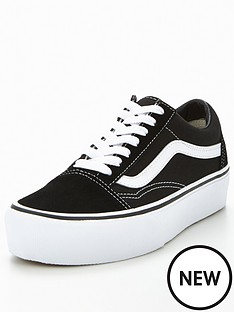 6e20c547cae Vans Old Skool Platform - Black White