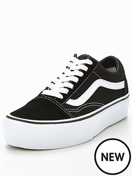 d261215aee6799 Old Skool Platform Black White by Vans