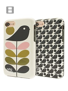 orla-kiely-orla-kiely-two-part-design-fashion-hardshell-duo-phone-case-pack-for-iphone-7-ditsy-early-bird-amp-early-bird-design