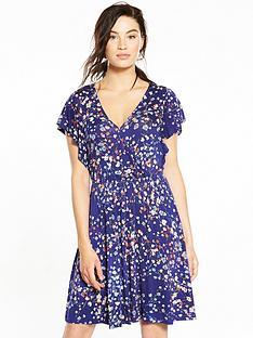 v-by-very-frill-sleeve-tea-dress
